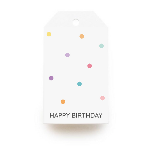 Happy Birthday Polka Dots Gift Tags x10, Gift Tags - Nigeria, Stationery, Hybrid Pencil