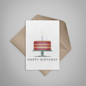 Birthday Cake Greeting Card - Stationery in Lagos, Nigeria, Hybrid Pencil