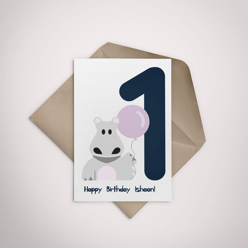Personalised Happy Birthday Greeting Card