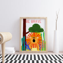 Be Brave Nursery Wall Art