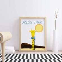 Dress Smart Giraffe Wall Art available in Lagos Nigeria - Wall Print for Nurseries and gifts
