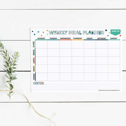 Meal Planner: Unlimited prints! - Stationery in Lagos, Nigeria, Hybrid Pencil
