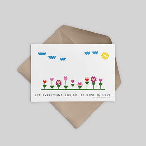 Love Garden Easter Greeting Card - Stationery in Lagos, Nigeria, Hybrid Pencil