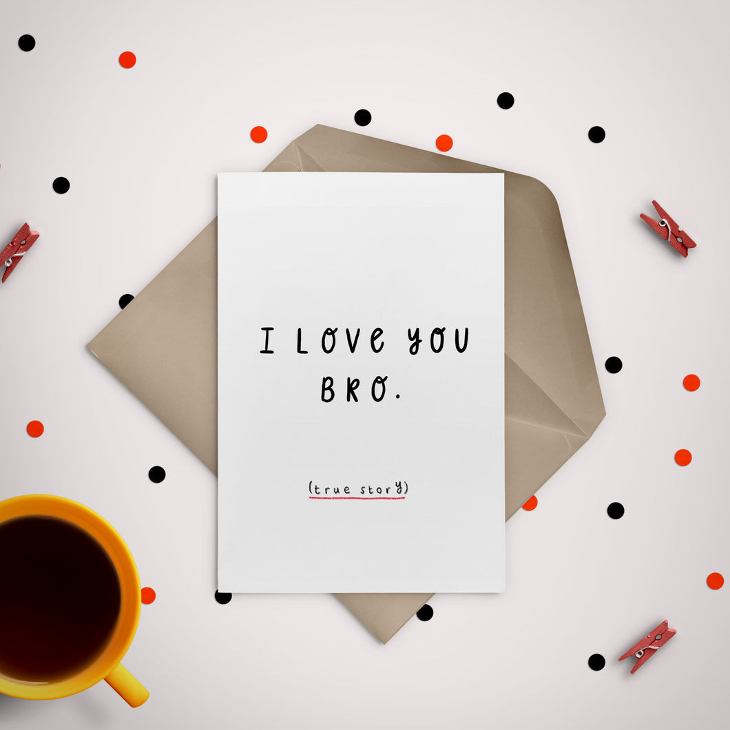 I Love You Bro Greeting Card - Stationery in Lagos, Nigeria, Hybrid Pencil