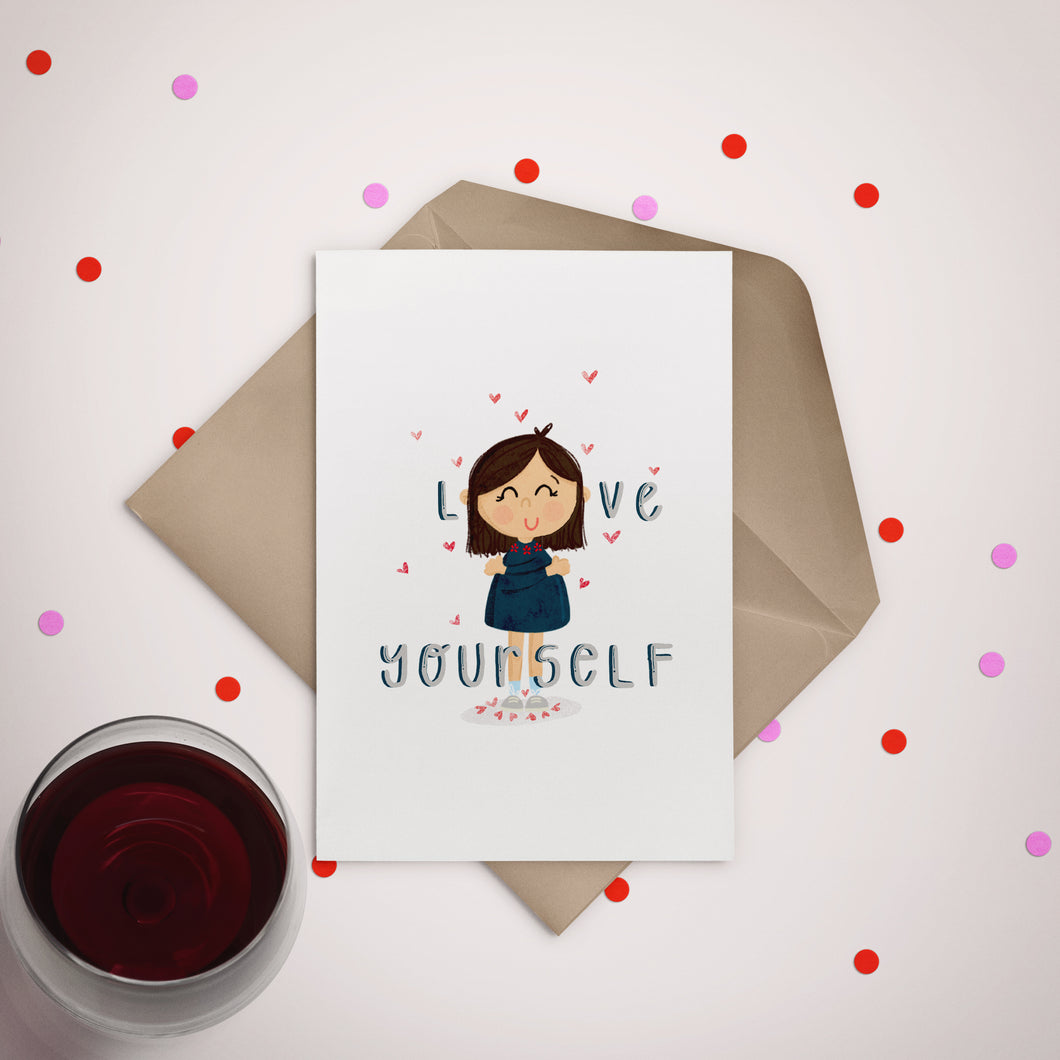 Love Yourself Greeting Card - Stationery in Lagos, Nigeria, Hybrid Pencil