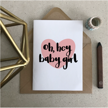 Oh Hey Baby Girl Greeting Card - Stationery in Lagos, Nigeria, Hybrid Pencil