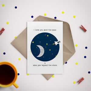 Outerspace Love Greeting Card - Stationery in Lagos, Nigeria, Hybrid Pencil