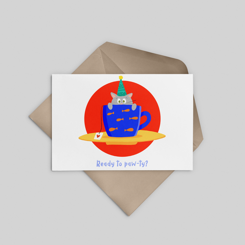 Ready to Party? Greeting Card - Stationery in Lagos, Nigeria, Hybrid Pencil