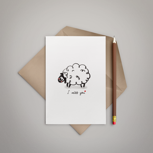 I Miss You Greeting Card - Stationery in Lagos, Nigeria, Hybrid Pencil