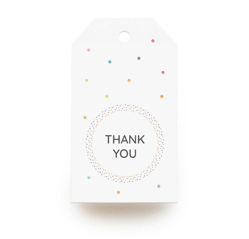 Thank You Round Gift Tags x10, Gift Tags - Nigeria, Stationery, Hybrid Pencil