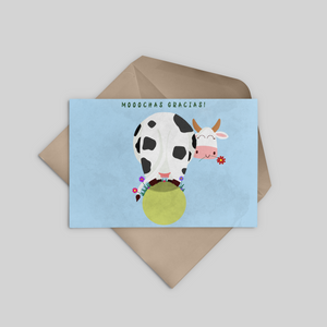Moochas gracias - Thank You Greeting Card - Stationery in Lagos, Nigeria, Hybrid Pencil