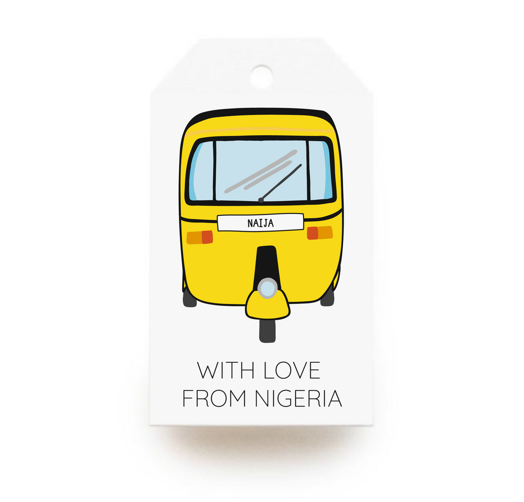 With Love, From Nigeria Gift Tags x10 - Stationery in Lagos, Nigeria, Hybrid Pencil