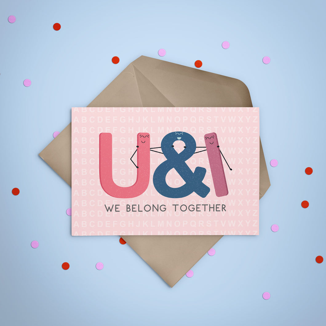 You and I Belong Together Greeting Card - Stationery in Lagos, Nigeria, Hybrid Pencil