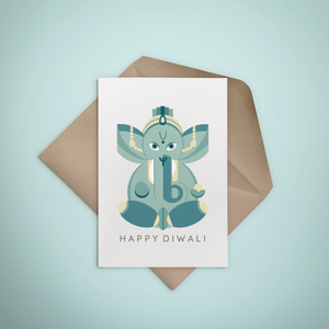 Happy Diwali Greeting Card - Stationery in Lagos, Nigeria, Hybrid Pencil
