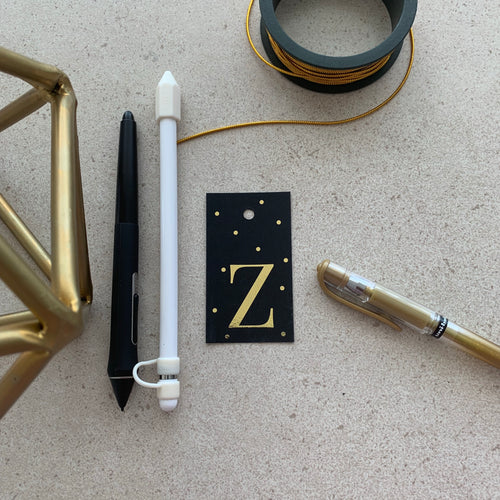 Gold Letter Z Gift Tags x10 - Stationery in Lagos, Nigeria, Hybrid Pencil
