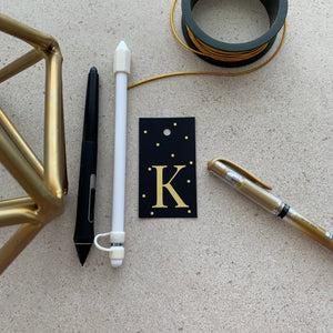 Gold Letter K Gift Tags x10 - Stationery in Lagos, Nigeria, Hybrid Pencil