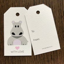 Hippo Gift Tags x10, Gift Tags - Nigeria, Stationery, Hybrid Pencil