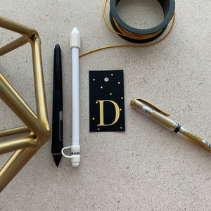 Gold Letter D Gift Tags x10 - Stationery in Lagos, Nigeria, Hybrid Pencil