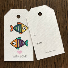 Little Fish Gift Tags x10, Gift Tags - Nigeria, Stationery, Hybrid Pencil
