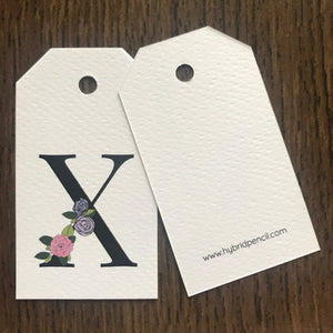 Floral Letter X Gift Tags - Stationery in Lagos, Nigeria, Hybrid Pencil