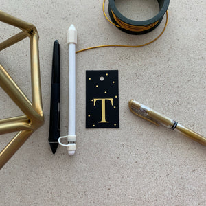 Gold Letter T Gift Tags x10 - Stationery in Lagos, Nigeria, Hybrid Pencil