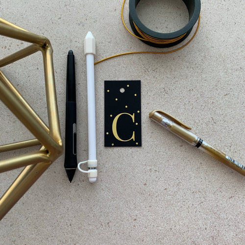Gold Letter C Gift Tags x10 - Stationery in Lagos, Nigeria, Hybrid Pencil