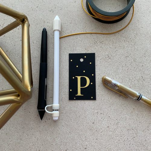 Gold Letter P Gift Tags x10 - Stationery in Lagos, Nigeria, Hybrid Pencil