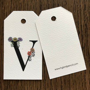 Floral Letter V Gift Tags - Stationery in Lagos, Nigeria, Hybrid Pencil