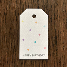 Happy Birthday Polka Dots Gift Tags x10 - Stationery in Lagos, Nigeria, Hybrid Pencil