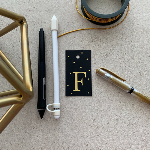 Gold Letter F Gift Tags x10 - Stationery in Lagos, Nigeria, Hybrid Pencil