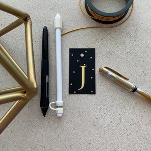 Gold Letter J Gift Tags x10 - Stationery in Lagos, Nigeria, Hybrid Pencil
