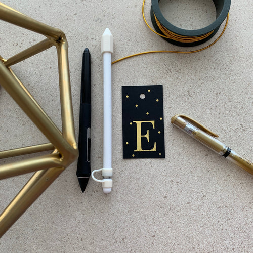 Gold Letter E Gift Tags x10 - Stationery in Lagos, Nigeria, Hybrid Pencil