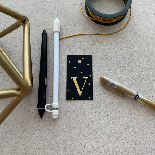 Gold Letter V Gift Tags x10 - Stationery in Lagos, Nigeria, Hybrid Pencil