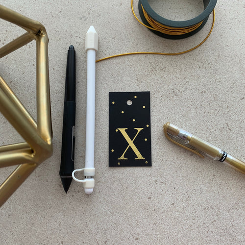 Gold Letter X Gift Tags x10 - Stationery in Lagos, Nigeria, Hybrid Pencil