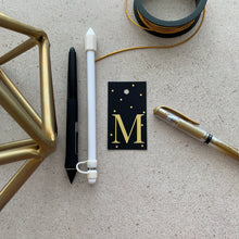 Gold Letter M Gift Tags x10, Gift Tags - Nigeria, Stationery, Hybrid Pencil