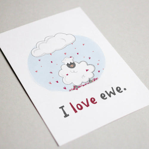 I Love Ewe Greeting Card - Stationery in Lagos, Nigeria, Hybrid Pencil