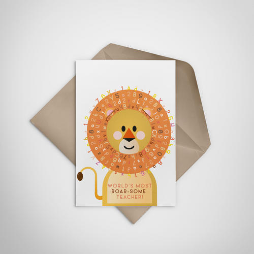 World's Most Roarsome Teacher Greeting Card - Stationery in Lagos, Nigeria, Hybrid Pencil