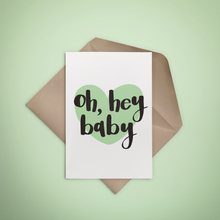 Oh Hey Baby Greeting Card - 3 colours - Stationery in Lagos, Nigeria, Hybrid Pencil