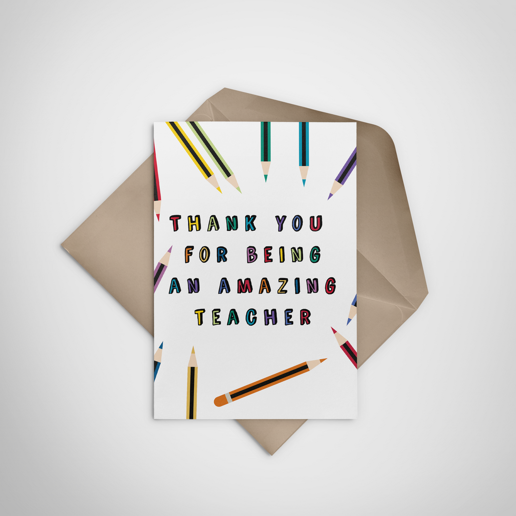 Most Amazing Teacher Greeting Card - Stationery in Lagos, Nigeria, Hybrid Pencil