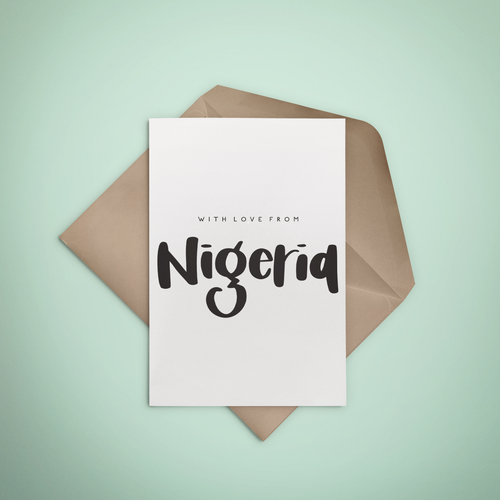 With Love, From Nigeria Greeting Card - Stationery in Lagos, Nigeria, Hybrid Pencil