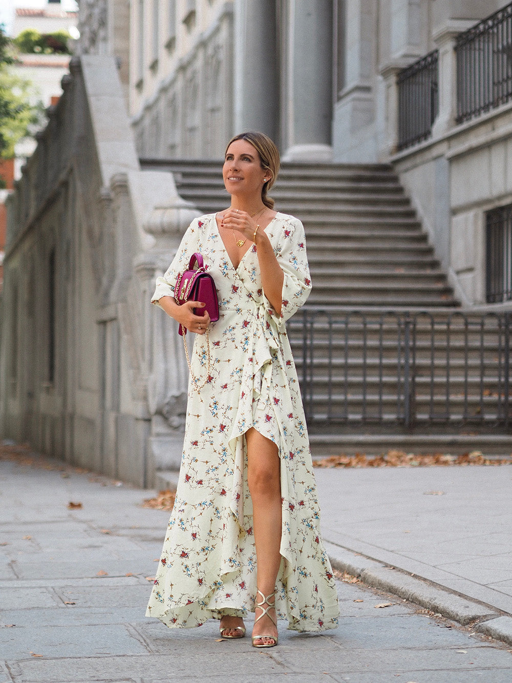 Vestido-Cruzado-Largo-Influencer-Monica-Sors-The-Brand