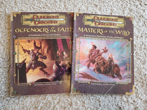 Dungeons and Dragons Guidebooks: Masters of the Wild and Defenders of the Faith