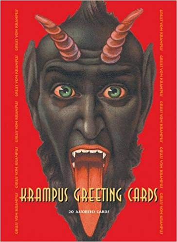 Krampus Greeting Cards Set One: 20 Assorted Cards in Deluxe Tin