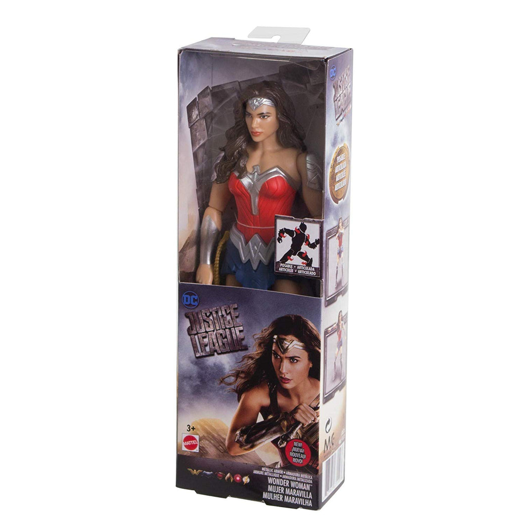 DC Comics Justice League Metallic Armor Wonder Woman Figure