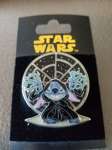 Disney Trading Pin Star Wars Stitch as Emperor Palpatine
