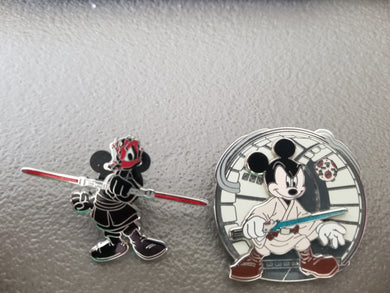 Disney Trading Pins: Darth Donald and Mickey Skywalker