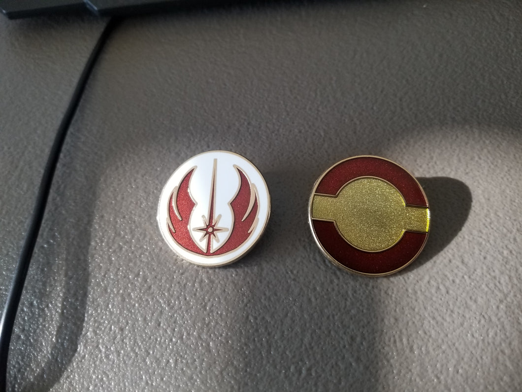 Disney Trading Pins: Star Wars Jedi Symbol and Fleet Symbol