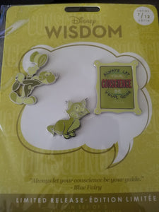 Disney Pins: Wisdom Series. Pinnochio