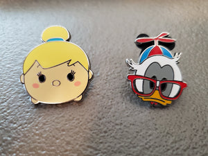 Disney Pins: Nerd Donald and Tinkerbell