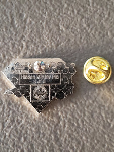 Pin 111947 DLR - 2015 Hidden Mickey Diamond Attractions - Railroad Train Engine